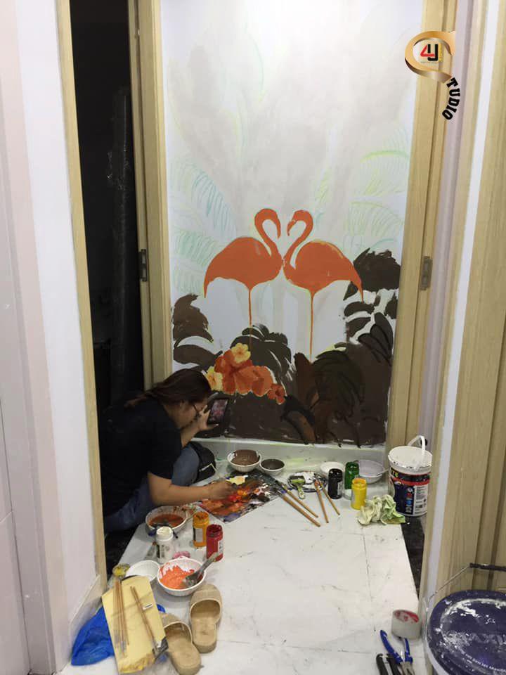 san pham 4u studio ve tranh tuong