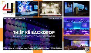 4u media thiết kế backdrop