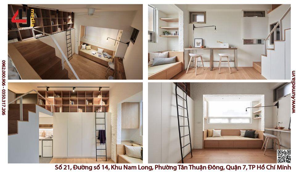 4u Studio thiết kế nội thất cho nhà nhỏ hẹp