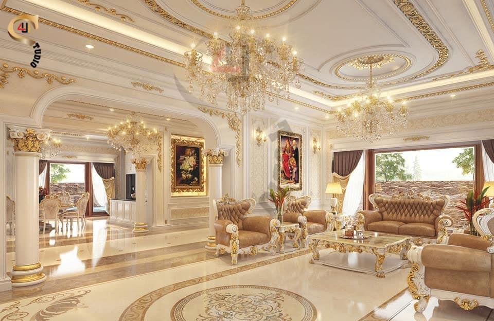 4u studio thiết kế nội thất phòng khách cổ điển