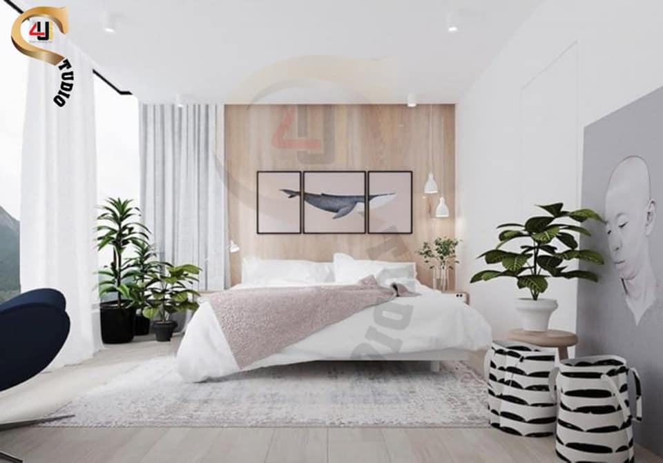 4u studio - cây xanh trong phòng ngủ
